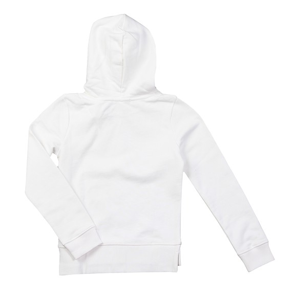 Calvin Klein Jeans Girls White Hybrid Logo Hoody