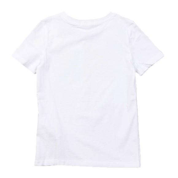 Calvin Klein Jeans Boys White Hybrid Logo T Shirt main image