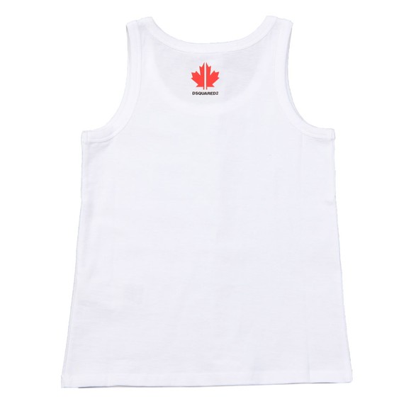Dsquared2 Boys White Neck Logo Vest
