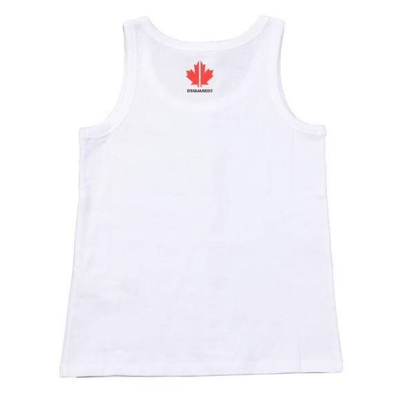 Dsquared2 Boys White Neck Logo Vest main image