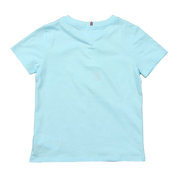 Tommy Hilfiger Kids Girls Blue Script Print T Shirt