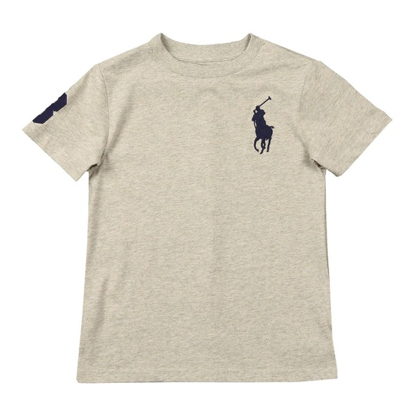 Polo Ralph Lauren Boys Grey Large Polo Player Crew T-Shirt main image