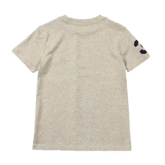 Polo Ralph Lauren Boys Grey Large Polo Player Crew T-Shirt