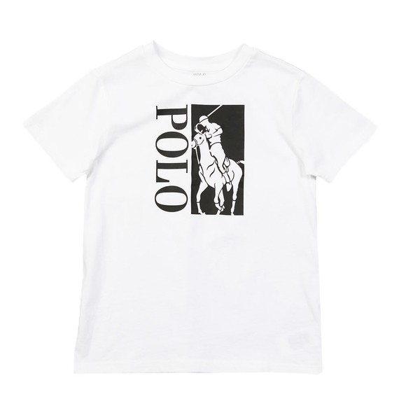 Polo Ralph Lauren Boys White Large Logo Active T Shirt main image