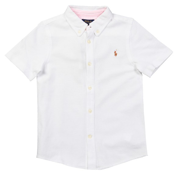 Polo Ralph Lauren Boys White Boys Short Sleeve Pique Shirt main image