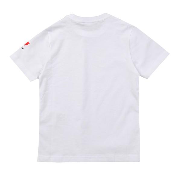 Dsquared2 Boys White Neck Logo T Shirt main image