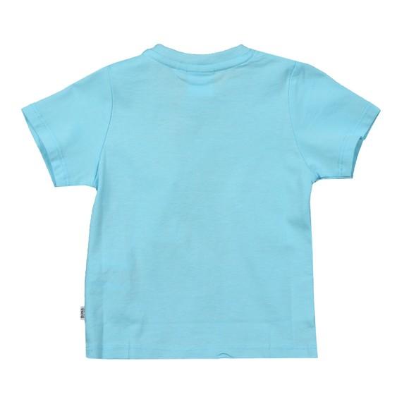 BOSS Baby Boys Turquoise J05831 Centre Logo T Shirt