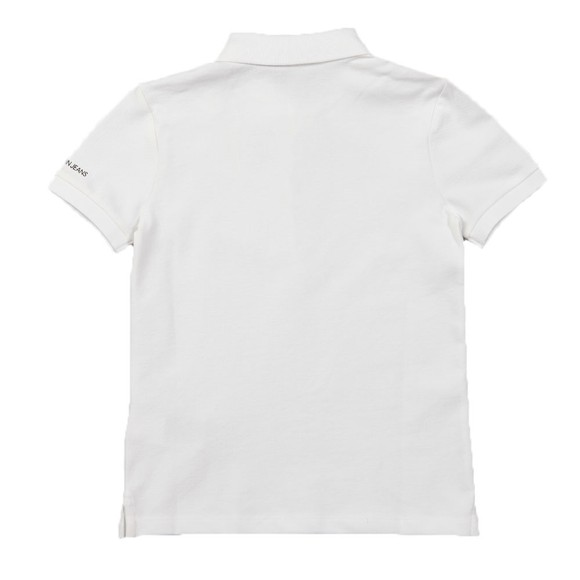 Calvin Klein Jeans Boys White Chest Monogram Polo Shirt main image
