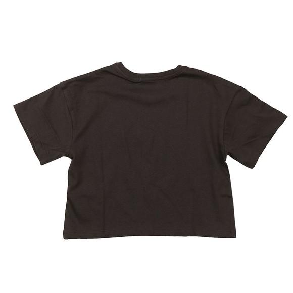 Calvin Klein Jeans Girls Black CK Repeat Foil Boxy T Shirt
