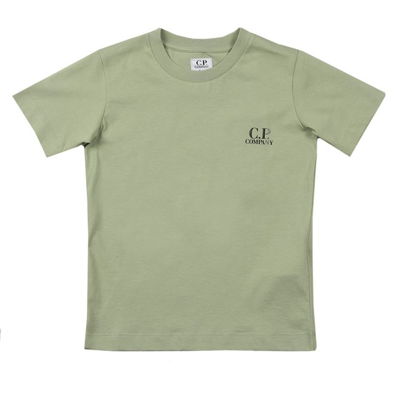 C.P. Company Undersixteen Boys Green Back Logo T Shirt
