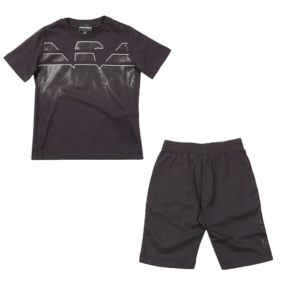 Emporio Armani Boys Blue 3K4VJN T Shirt & Short Set