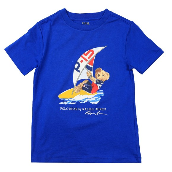 Polo Bear By Ralph Lauren Boys Blue Sailing Bear T Shirt main image