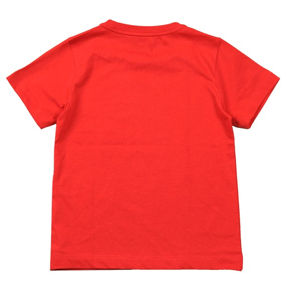 Emporio Armani Boys Red Large Eagle Logo T Shirt main image