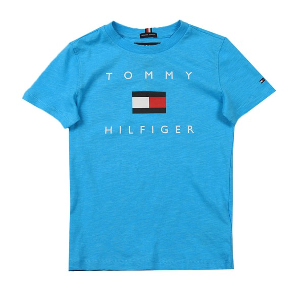 Tommy Hilfiger Kids Boys Blue Logo T Shirt