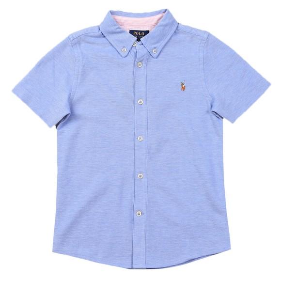 Polo Ralph Lauren Boys Blue Boys Short Sleeve Pique Shirt