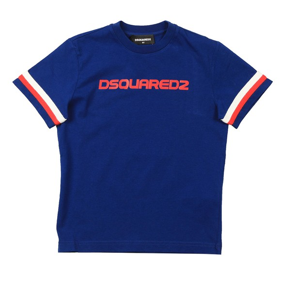 Dsquared2 Boys Blue Large Logo T Shirt