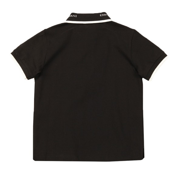 Emporio Armani Boys Black Collar Logo Polo Shirt