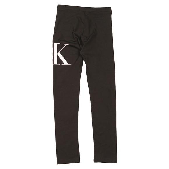 Calvin Klein Jeans Girls Black Hybrid Logo Legging