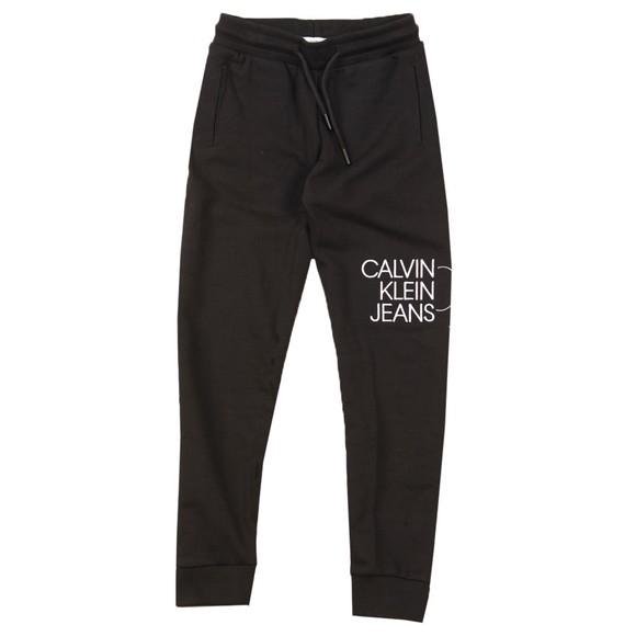 Calvin Klein Jeans Boys Black Hybrid Logo Sweatpant
