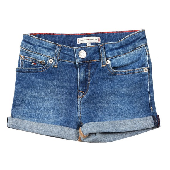 Tommy Hilfiger Kids Girls Blue Nora Basic Denim Short