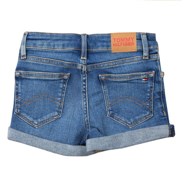 Tommy Hilfiger Kids Girls Blue Nora Basic Denim Short