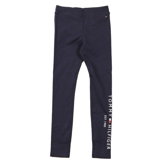 Tommy Hilfiger Kids Girls Blue Essential Logo Legging