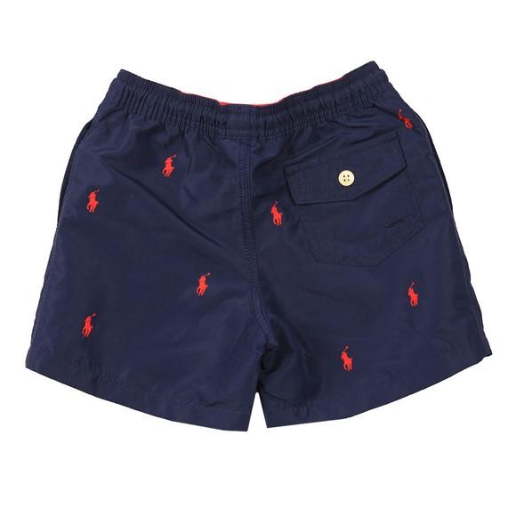 Polo Ralph Lauren Boys Blue Allover Polo Player Swim Short