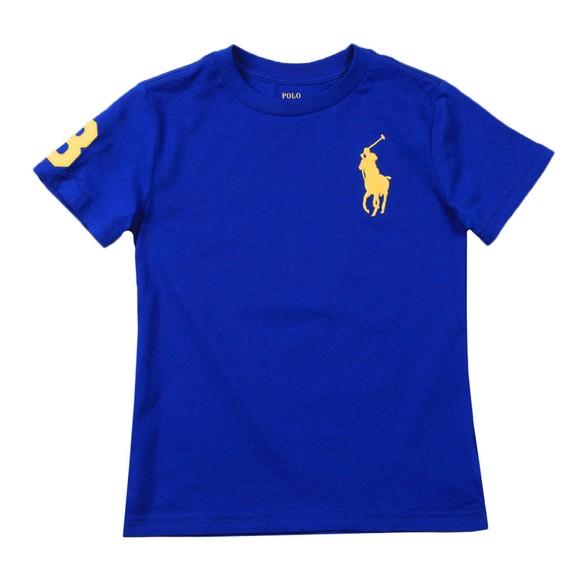 Polo Ralph Lauren Boys Blue Large Polo Player Crew T-Shirt main image