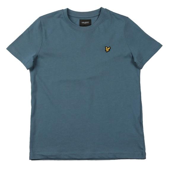 Lyle And Scott Junior Boys Blue Plain Crew T-Shirt