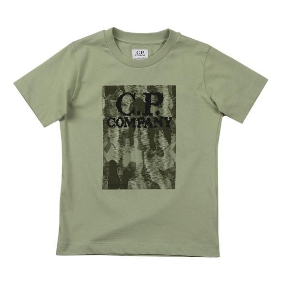 C.P. Company Undersixteen Boys Green Camo Printed T Shirt main image