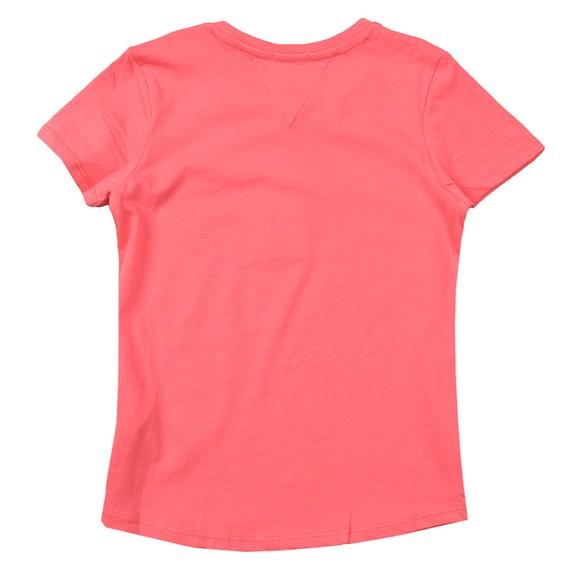 Tommy Hilfiger Kids Girls Pink Essential Logo T-Shirt