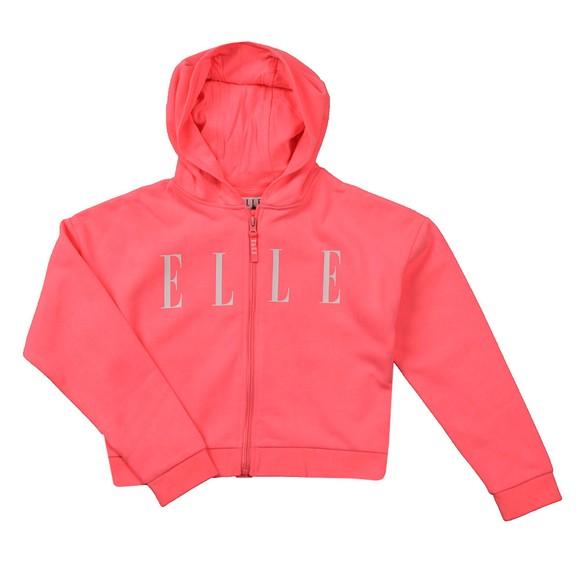 Elle Girls Pink Logo Zip Hoody