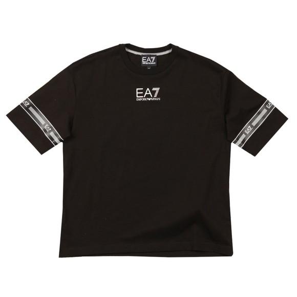 EA7 Emporio Armani Boys Black Boys Centre Logo T Shirt