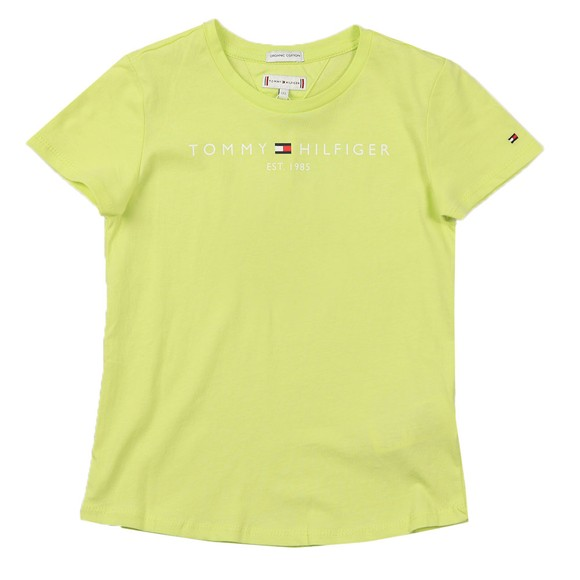 Tommy Hilfiger Kids Girls Green Essential Logo T-Shirt