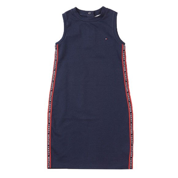 Tommy Hilfiger Kids Girls Blue Tape Sports Dress