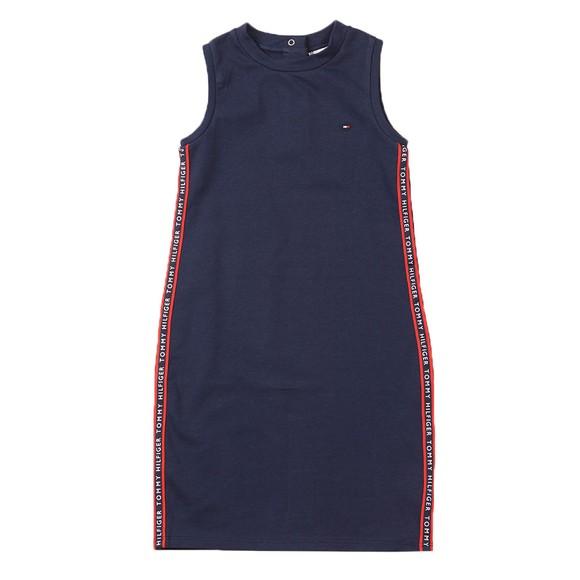 Tommy Hilfiger Kids Girls Blue Tape Sports Dress main image
