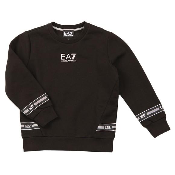 EA7 Emporio Armani Boys Black Centre Logo Sweatshirt main image