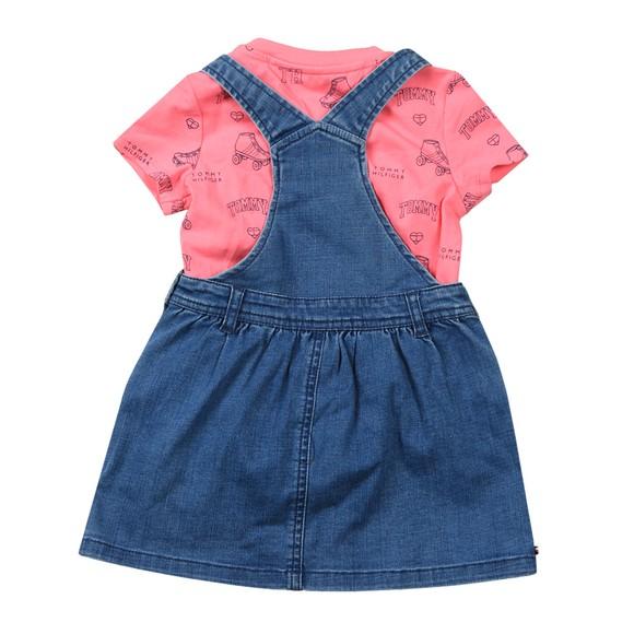 Tommy Hilfiger Kids Girls Blue Baby Dungaree Dress