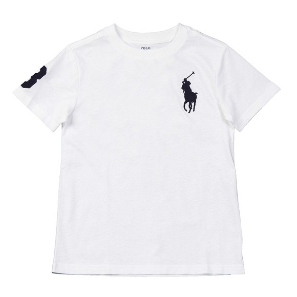 Polo Ralph Lauren Boys White Large Polo Player Crew T-Shirt
