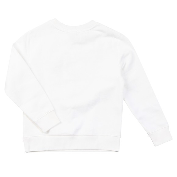 Polo Bear By Ralph Lauren Boys White Scholarship Bear Sweatshirt