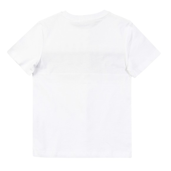 Calvin Klein Jeans Boys White Logo Tape Colour Block T Shirt