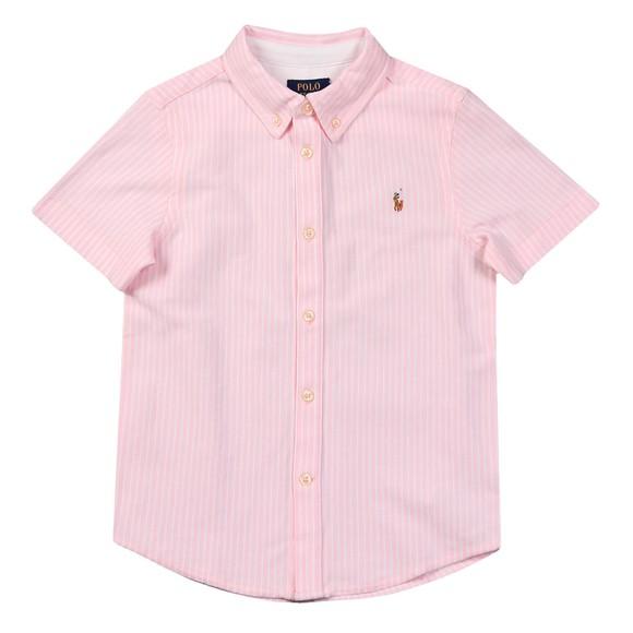 Polo Ralph Lauren Boys Pink Boys Short Sleeve Pique Shirt