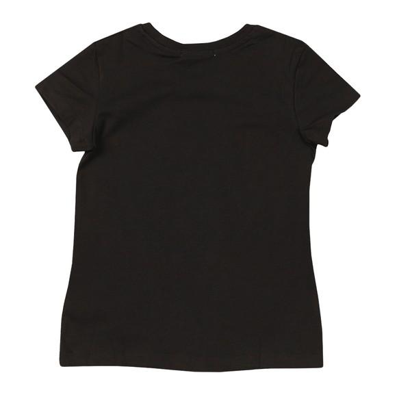 Calvin Klein Jeans Girls Black Hybrid Logo Slim T-Shirt