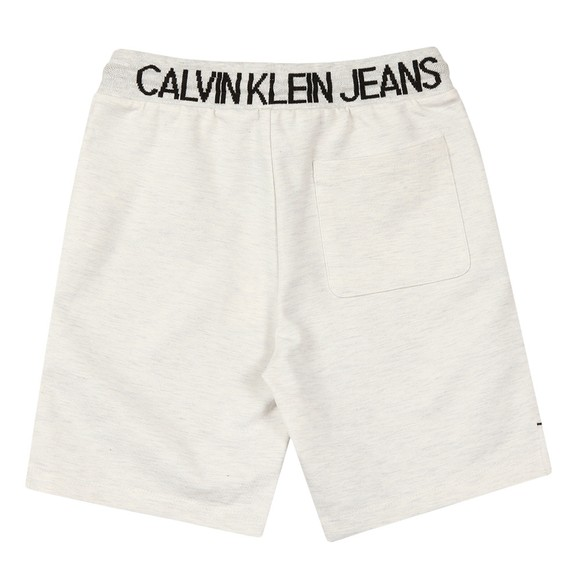 Calvin Klein Jeans Boys Grey Punto Mixed Fabric Jogger Shorts
