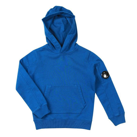 C.P. Company Undersixteen Boys Blue Fleece Overhead Viewfinder Sleeve Hoody main image