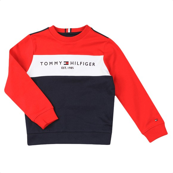 Tommy Hilfiger Kids Boys Blue Essential Colourblock Tracksuit