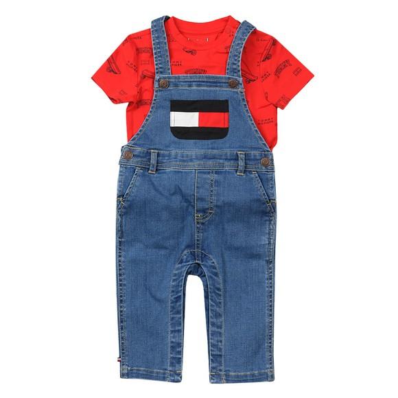 Tommy Hilfiger Kids Boys Blue Baby Dungaree Set main image