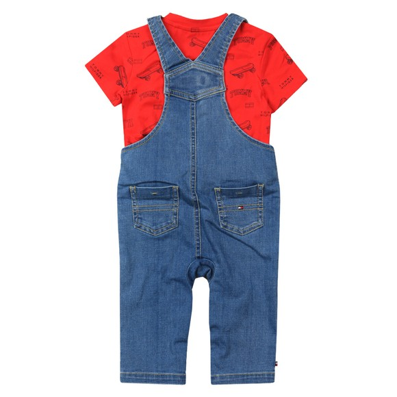 Tommy Hilfiger Kids Boys Blue Baby Dungaree Set