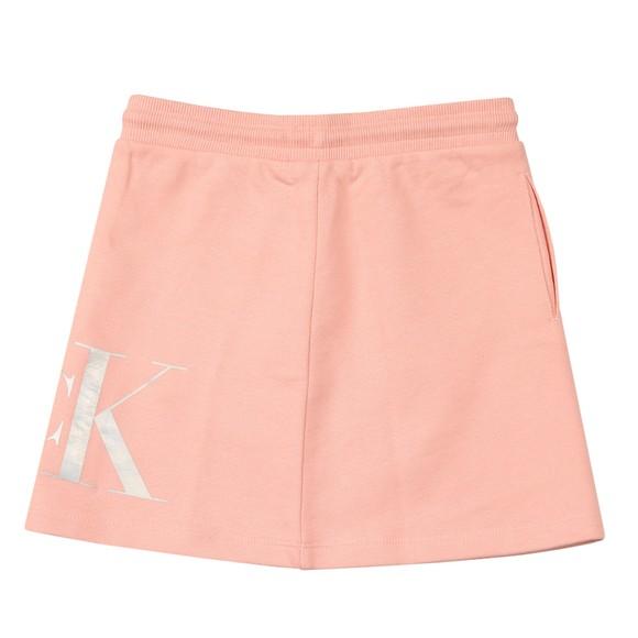 Calvin Klein Jeans Girls Pink Hybrid Logo Skirt