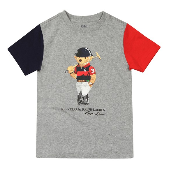 Polo Bear By Ralph Lauren Boys Grey Polo Player Bear T Shirt